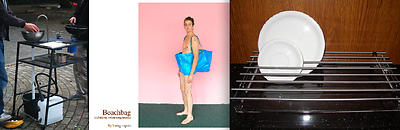 From left to right: Usitgebäcken by Sander Kunst and Guus Alders; Beachbag by Sarah Kueng and Lovis Caputo; Dray by Siew Lim