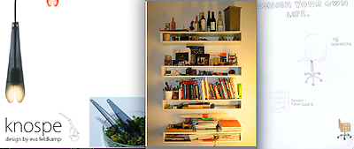 From left to right: KNOSPE by Eva Veldkamp; Bookshelf by This Reber; Design your own life by Ilse Moelands