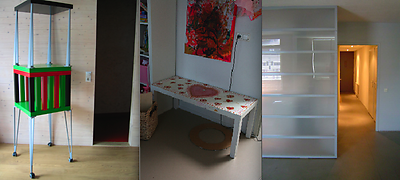 From left to right: LACKY LACK by Henk de Vroom; LACK children's table by Ans Bakker; Room Divider by Arie Shilperoord