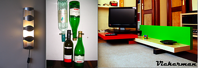 From left to right: Hack on wine rack VURM by Michiel Dol; Wijnrek van Curtain rail hack by Chantal Drenthe; VICKERMAN coffee table by Guillermo Bastarica