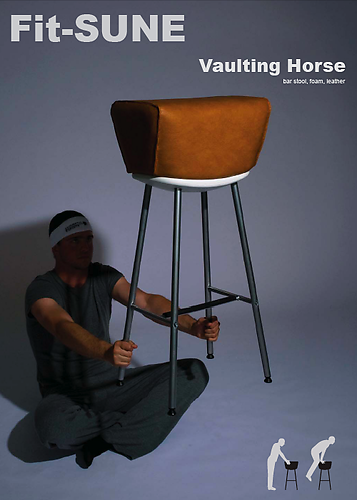 Fit SUNE Vaulting Horse: bar stool, foam, leather